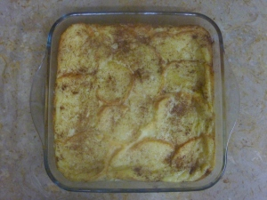 Baguette and butter pudding